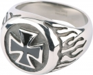 FINGER RING *IRON CROSS*