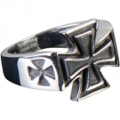 FINGER RING IRON CROSS II